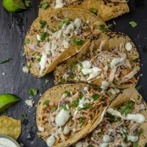 Spicy Grilled Chicken Tacos with Avocado Crema