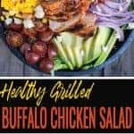 Healthy Grilled Buffalo Chicken Salad pin