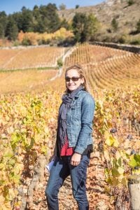 Mary Cressler in the Burgundy region of France