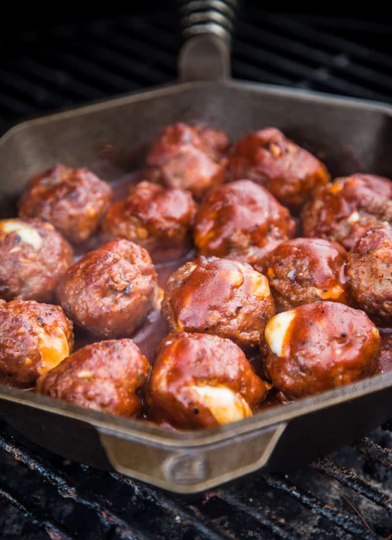 Smoked Meatballs on the Grill