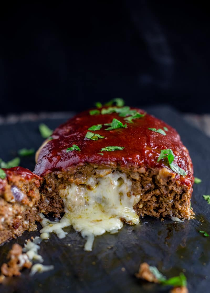 Smoked Meatloaf stuffed with cheese