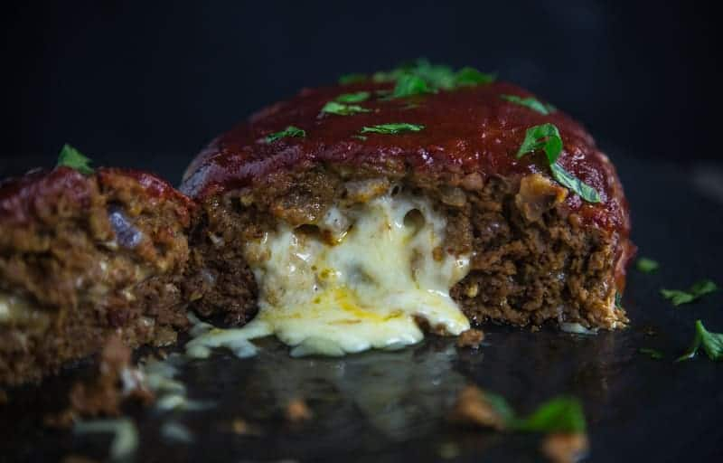 Smoked Stuffed Meatloaf closeup