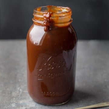 Jar of Easy Homemade BBQ Sauce Kansas City Style