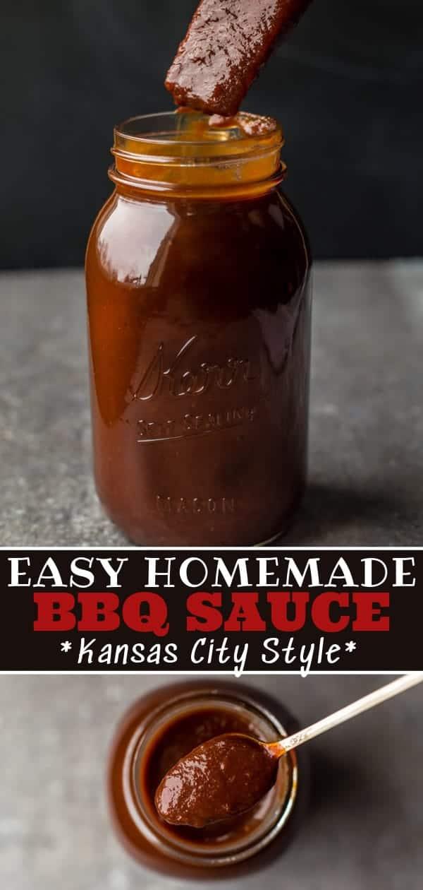 Homemade Kansas City Style BBQ Sauce Pinterest Image