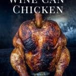 Grilled Wine Can Chicken on the grill , Pinterest Image