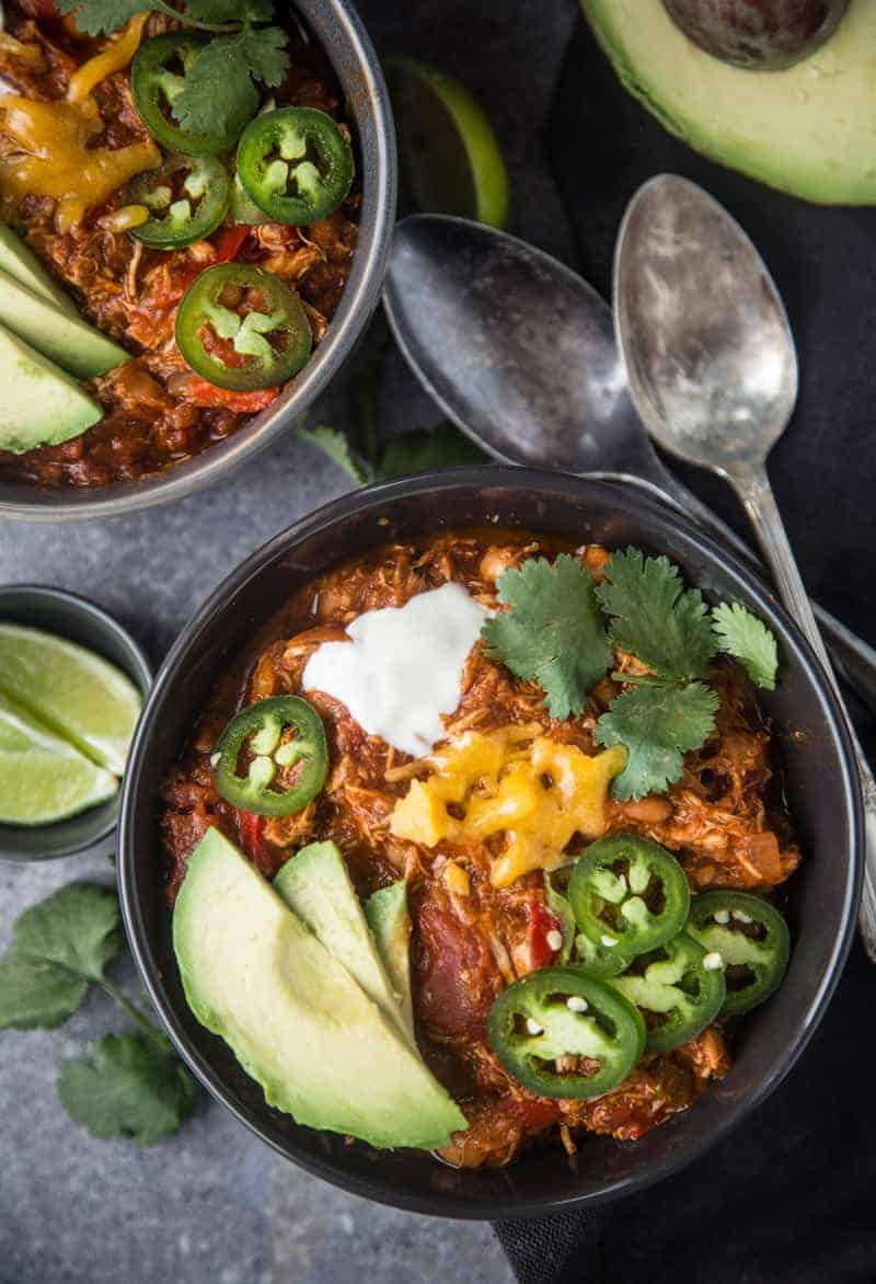Bowl of Smoked Chicken Chili