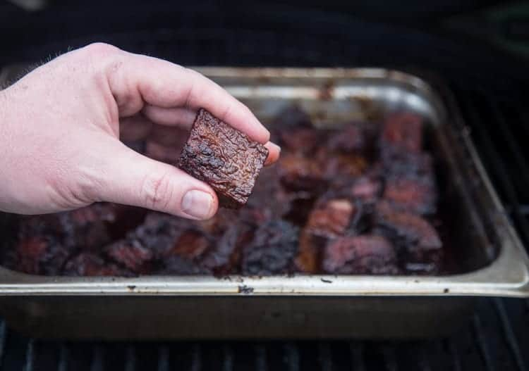 Brisket Burnt Ends close up