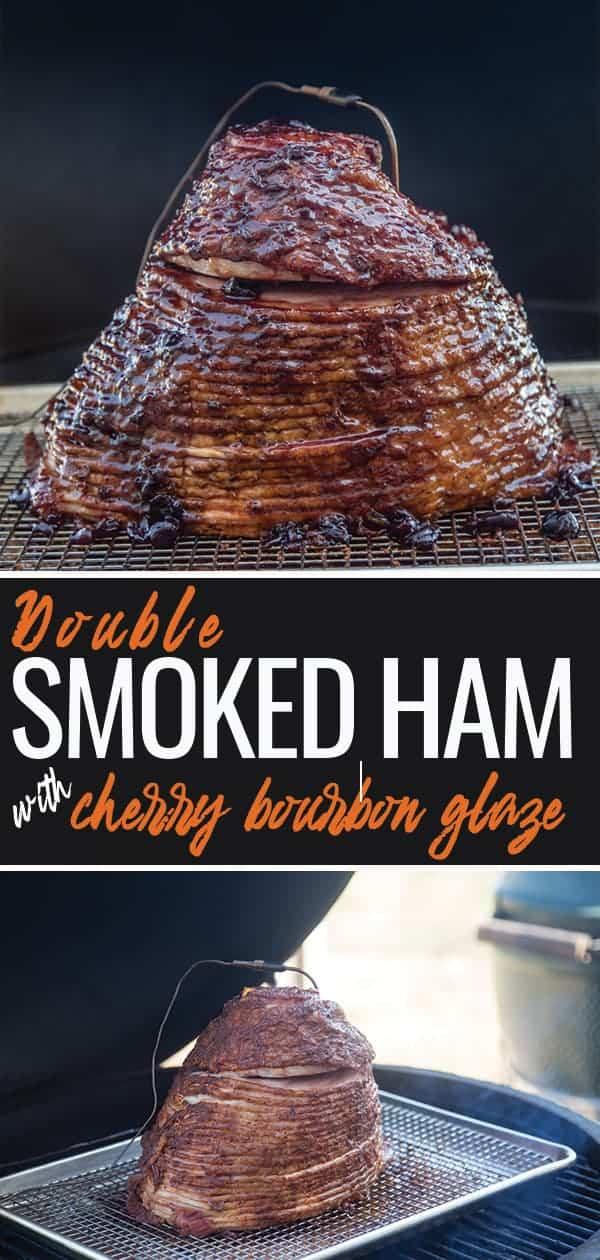 Double Smoked Ham with Bourbon Cherry Glaze pin