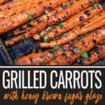 Grilled Carrots pin for Pinterest