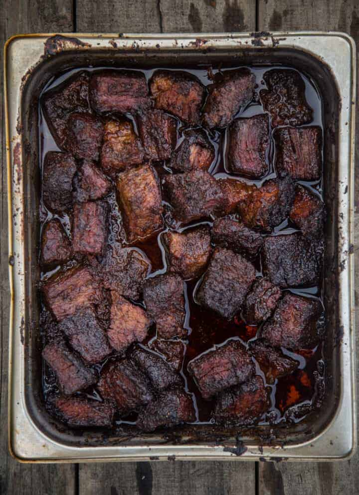 Tray of Brisket Burnt Ends