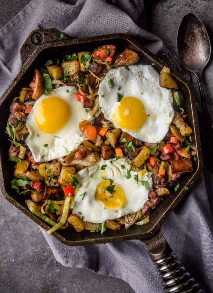 Smoked Ham Breakfast Hash