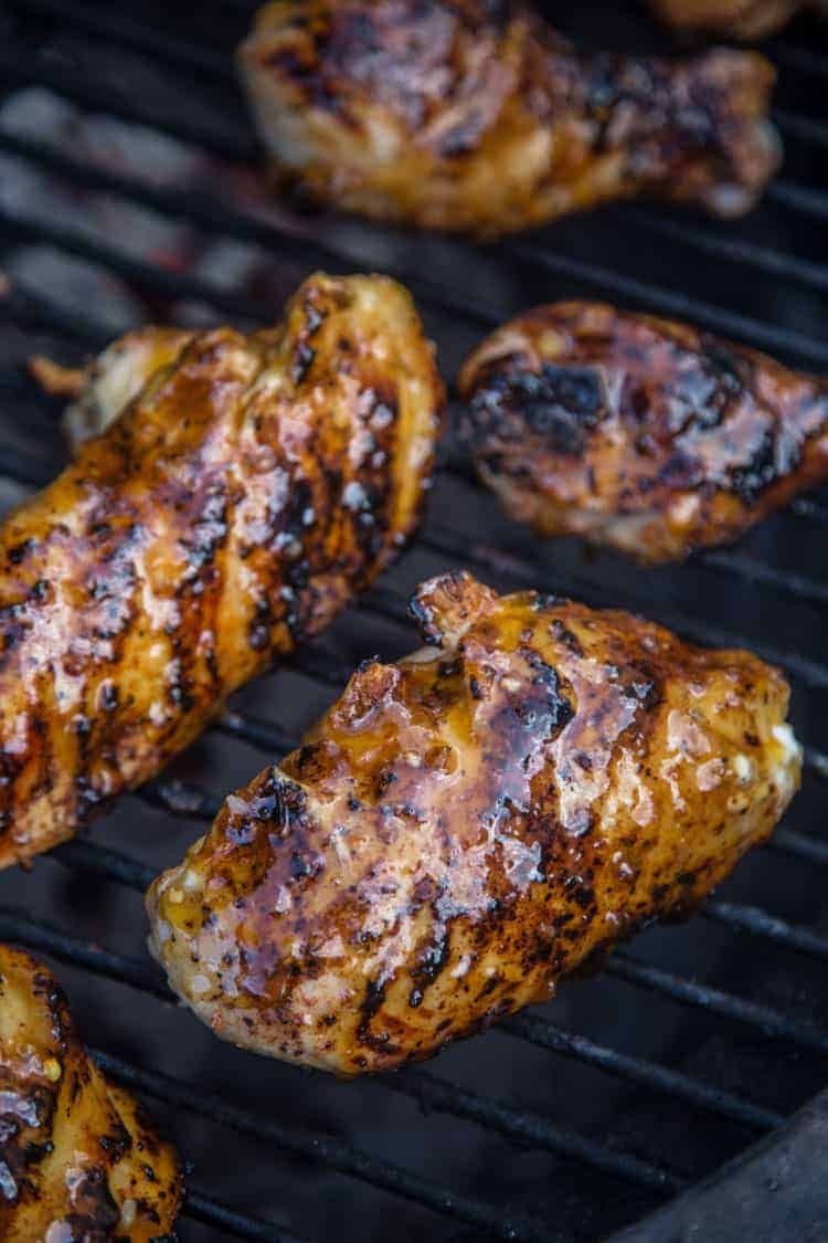 Apricot Chicken on grill