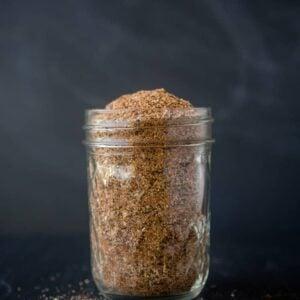 Easy Homemade Chicken Seasoning in a mason jar