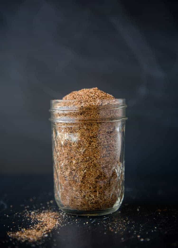 Easy Homemade Chicken Seasoning in a mason jar