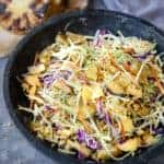 Grilled Pineapple Coleslaw in a bowl