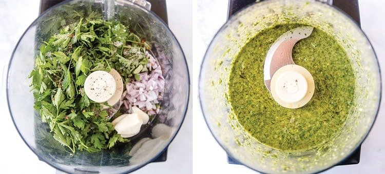 How to make Chimichurri Sauce in the food processor