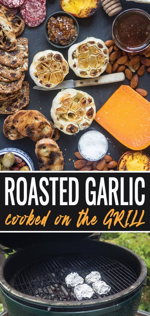 Roasted Garlic pin for Pinterest