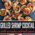 Grilled Shrimp Cocktail pin for pinterest