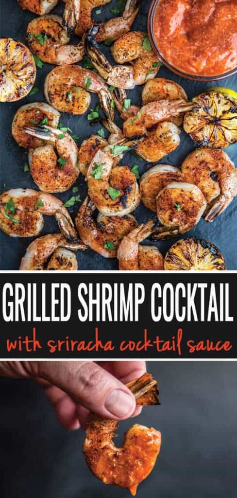 Grilled Shrimp Cocktail pin for pinterest