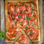 Sliced Puff Pastry Tomato Galette