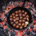 Chestnuts roasting over a grill
