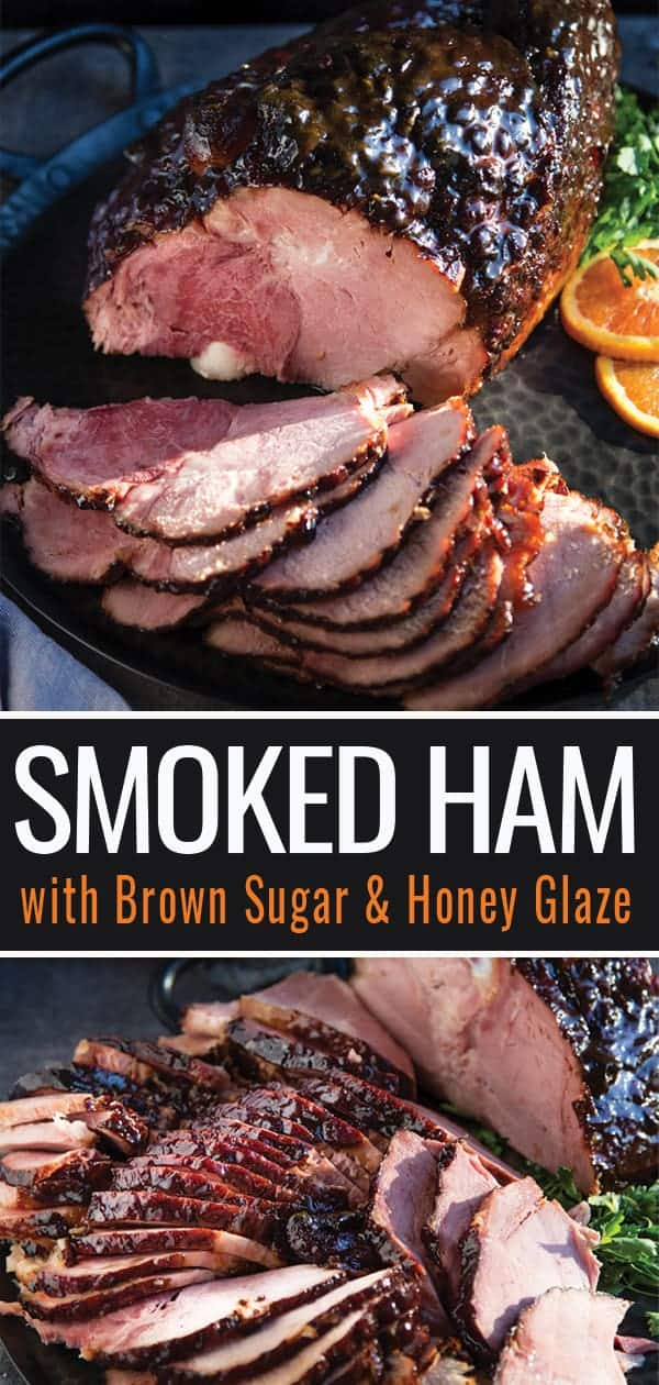 Smoked Ham with Brown Butter Glaze pin for Pinterest