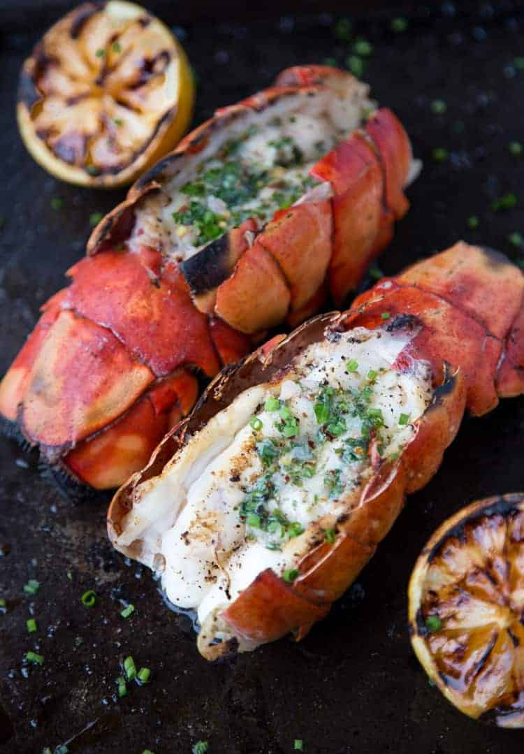 Grilled Lobster with Herb  Butter