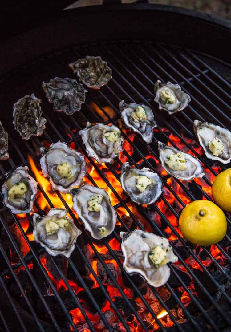 Direct grilling oysters.