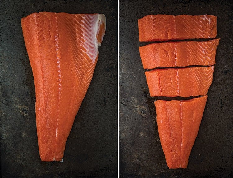 How to slice raw salmon into filets