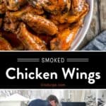 Smoked Buffalo Chicken Wings pin