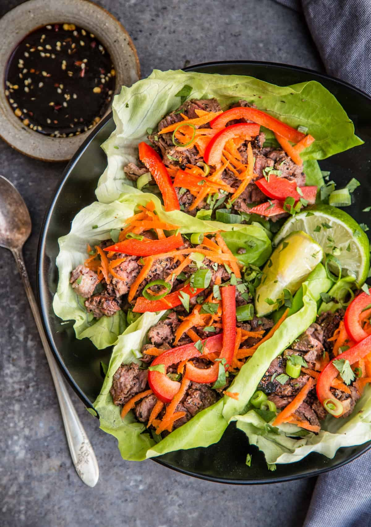 Grilled Steak Lettuce Wraps