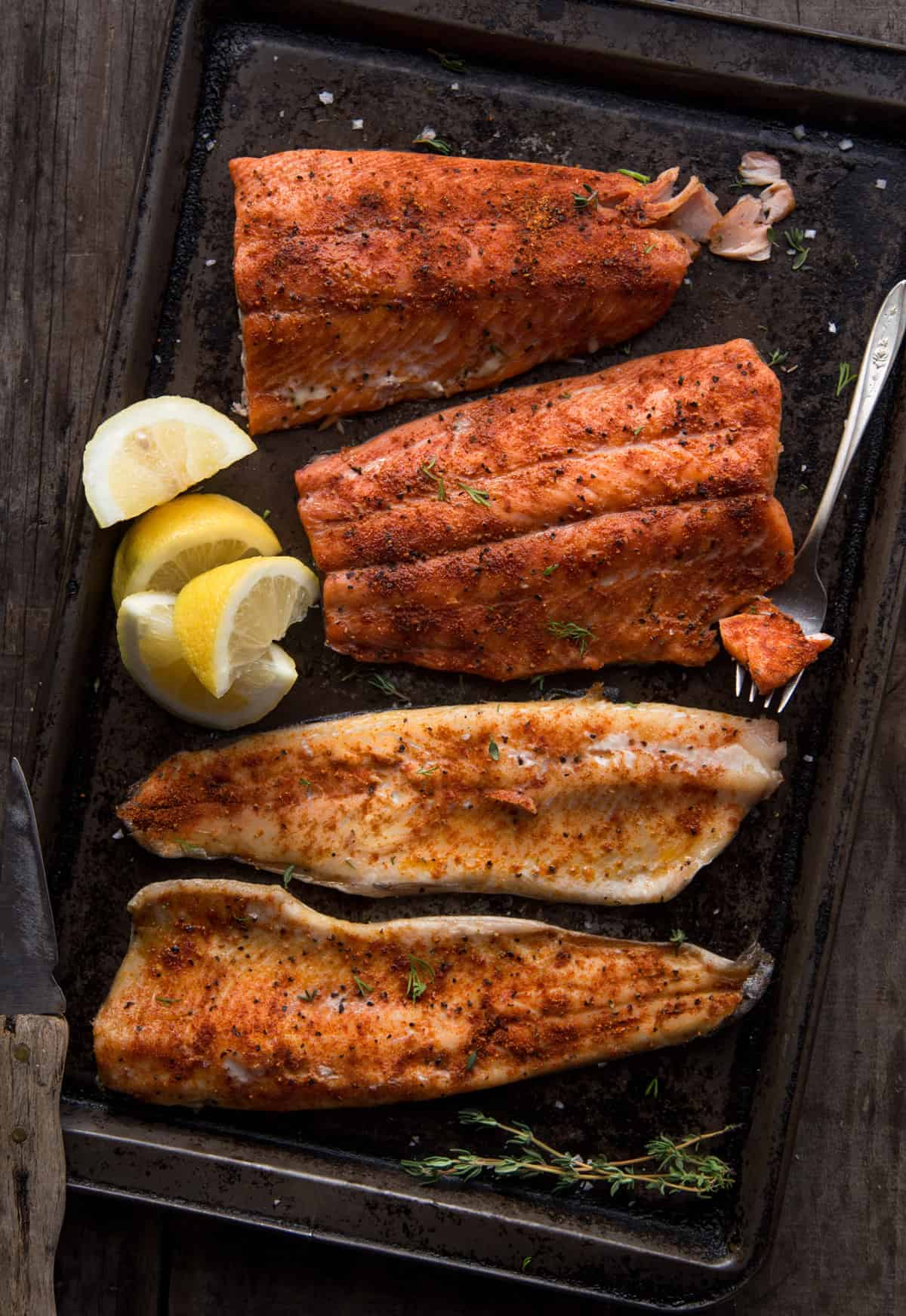 Smoked Trout with Seafood Seasoning