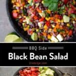black bean salad pin