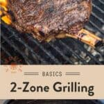 2 zone grilling Pinterest Pin