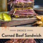 Corned Beef Sandwich Pinterest Pin