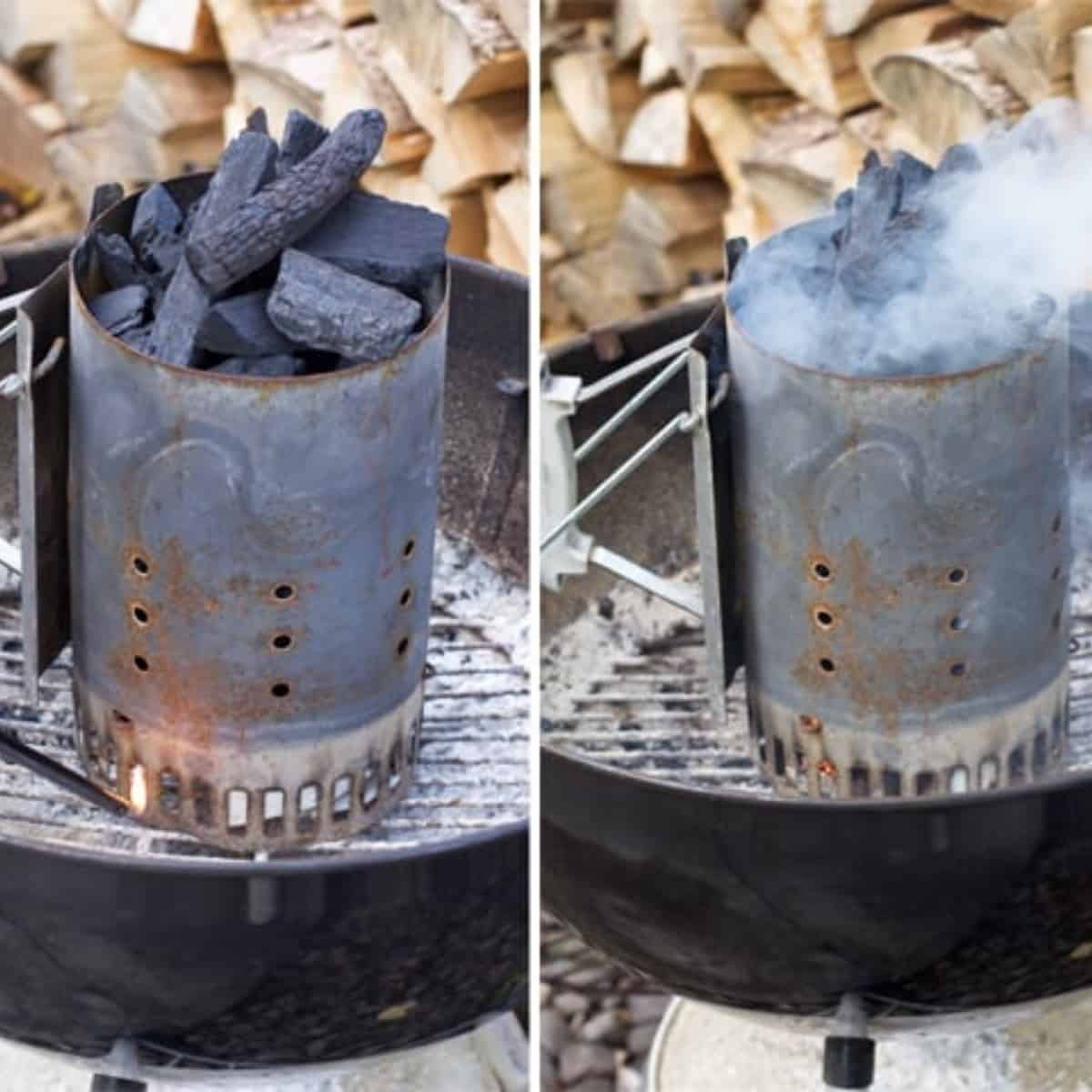 How to use a charcoal chimney