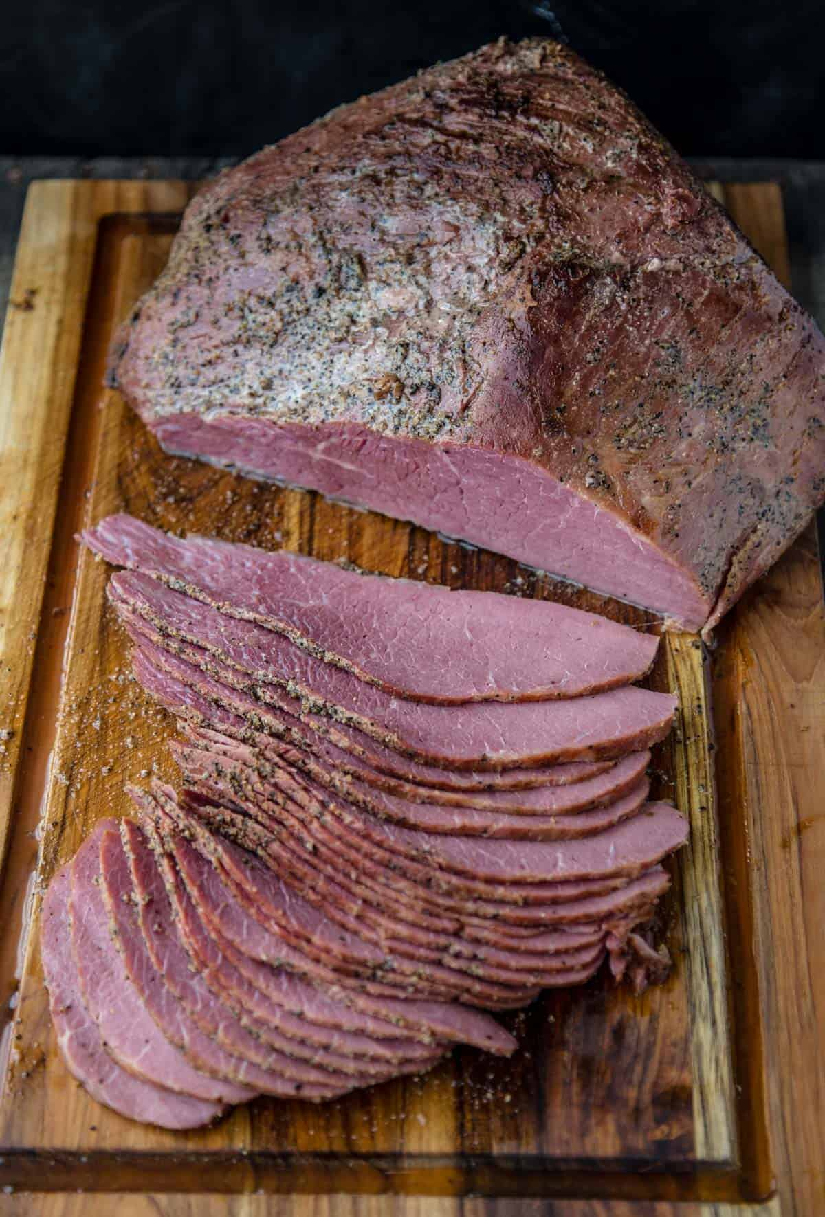 Smoked Corned Beef and how to smoke a corned beef round or brisket