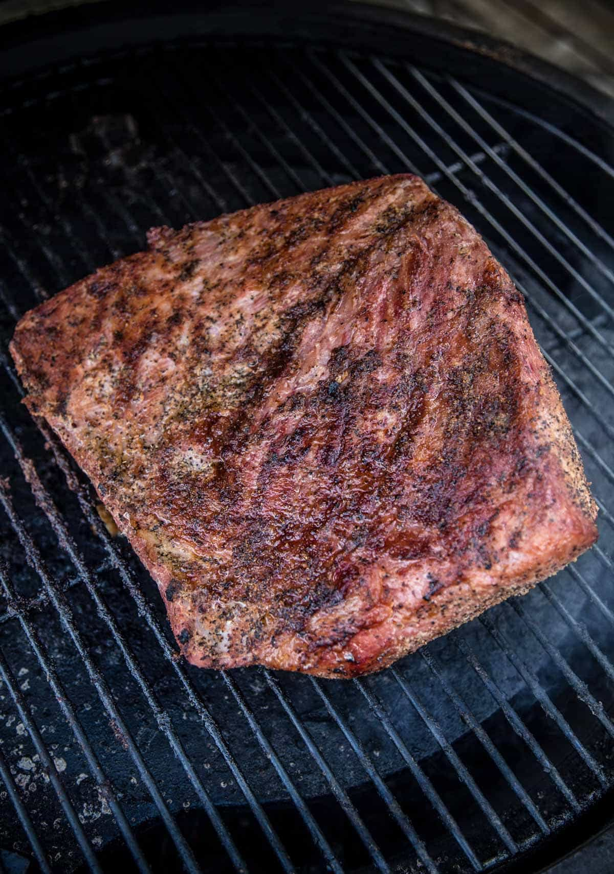 Smoked Corned Beef, cooking a brisket or beef round on the smoker