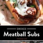 Smoked Meatball Sandwiches pin