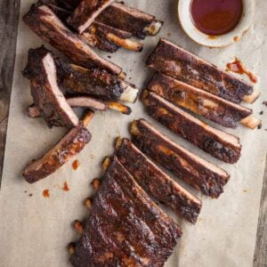 Spare Ribs with Sauce Sliced