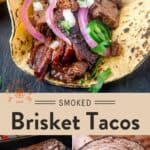 Leftover Brisket Tacos Pin