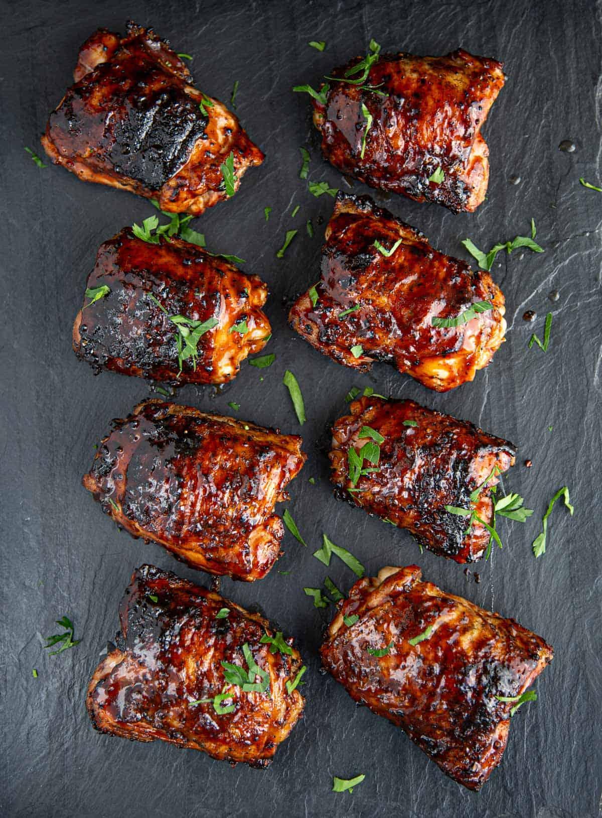 Grilled Chicken Thighs With Bbq Sauce Glaze Vindulge