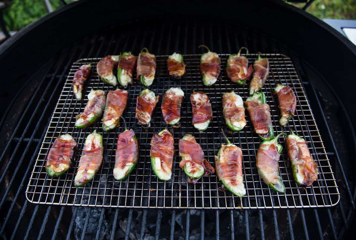 Jalapeño Poppers on the grill