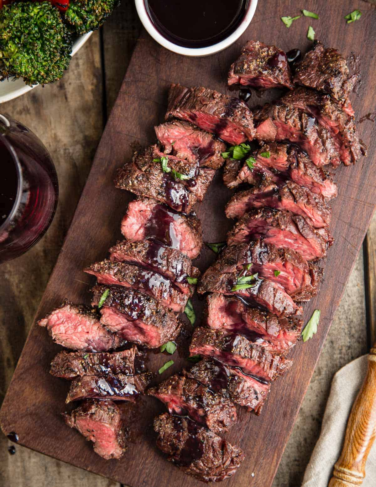 Grilled Hanger Steak with Pinot Noir and Marionberry Glaze - Vindulge