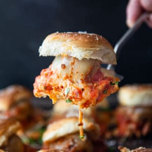 A single Italian Meatball Slider
