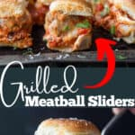 Meatball Slider pinterest image with text