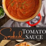 Smoked Sauce pin image with text