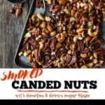 Smoked Candied Nuts pin for Pinterest