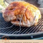 Borbon Brined Smoked Turkey Pinterest Pin with Text on light background