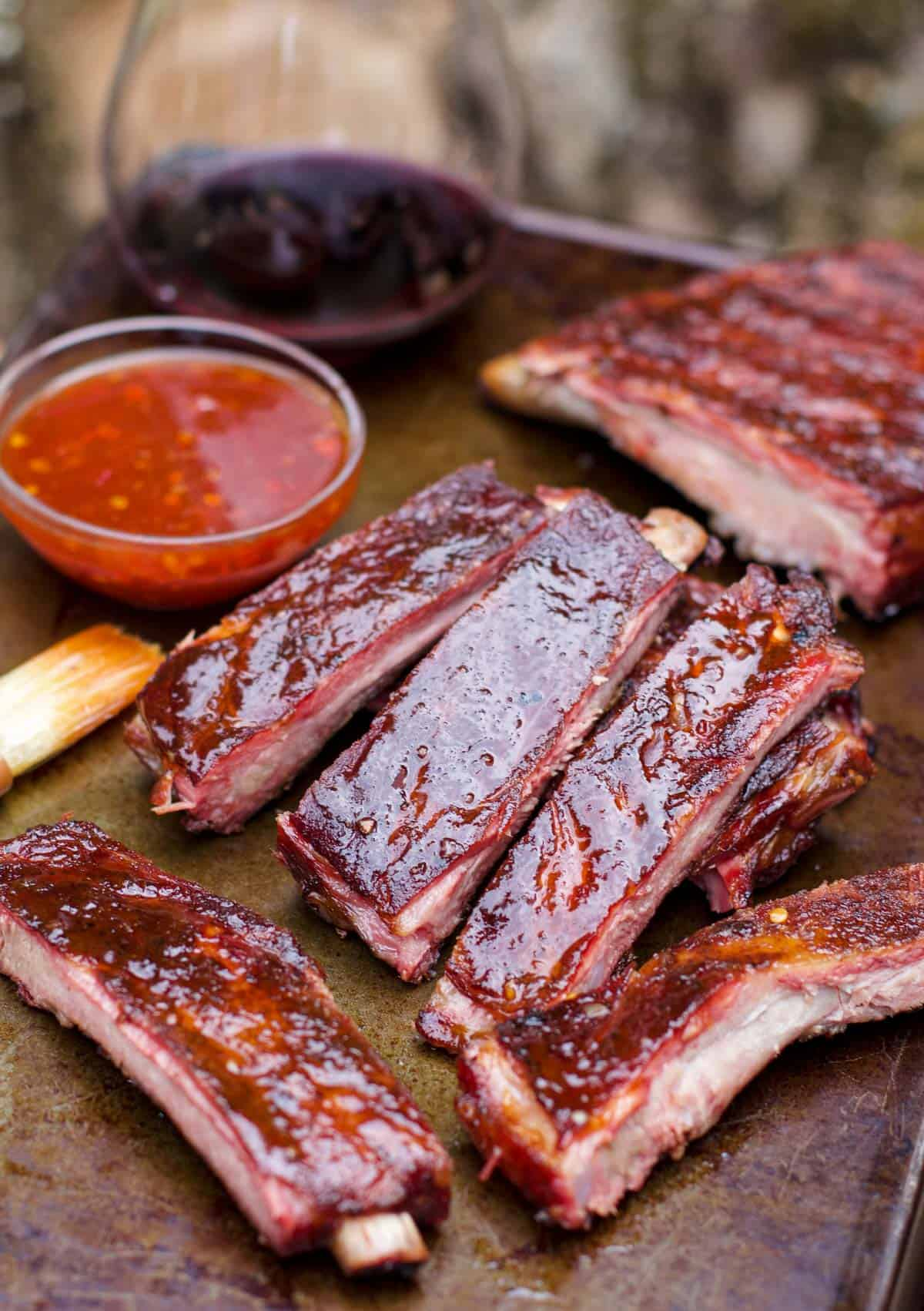 Smoked Pork Ribs With Chinese Five Spice Rub And Thai Chili Glaze Vindulge